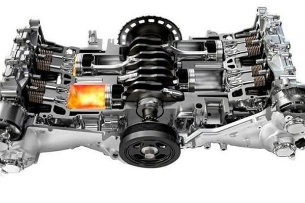 Động cơ Boxer có thiết kế nằm ngang, dạng chữ H