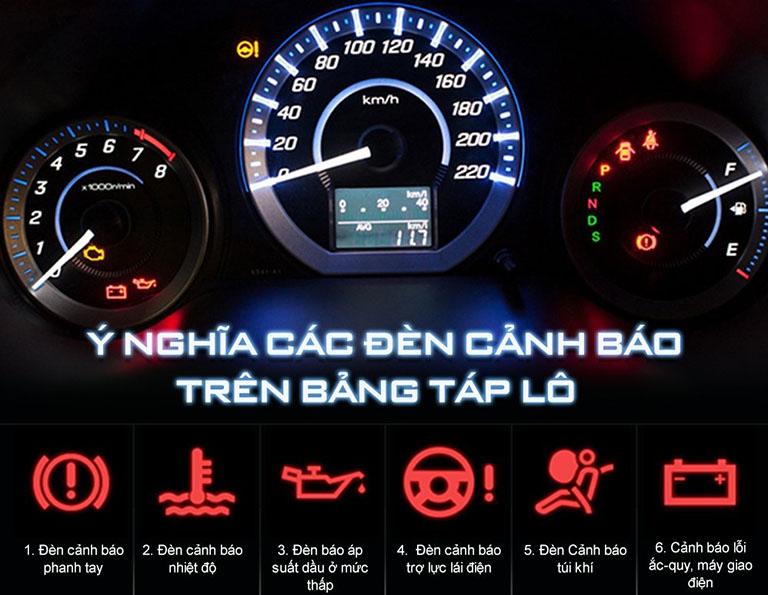 ý nghĩa các đèn cảnh báo trên taplo